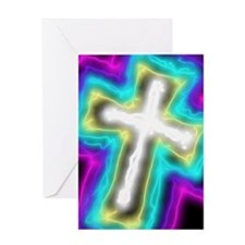 Electrifying Cross Greeting Cards