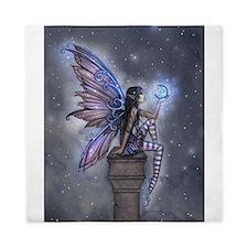Little Blue Moon Fairy Fantasy Art Queen Duvet