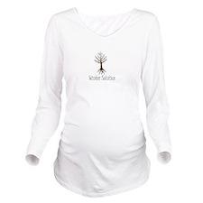 Unique Winter Long Sleeve Maternity T-Shirt