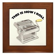 How I Roll Pasta Framed Tile