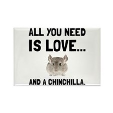 Love And A Chinchilla Magnets