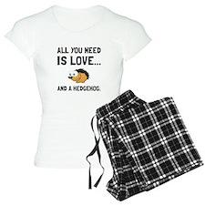 Love And A Hedgehog Black Pajamas