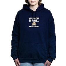 Love And A Rabbit Women's Hooded Sweatshirt