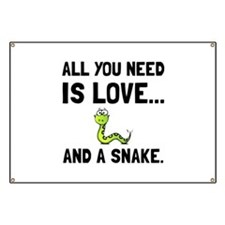 Love And A Snake Banner