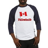Canada Flag - Yellowknife Text Baseball Jersey