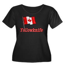 Canada Flag - Yellowknife Text T