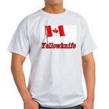 Canada Flag - Yellowknife Text T-Shirt