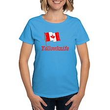 Canada Flag - Yellowknife Text Tee