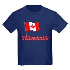 Canada Flag - Yellowknife Text T