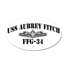 USS AUBREY FITCH 20x12 Oval Wall Decal