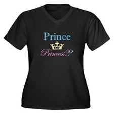 Prince or Pr Women's Plus Size V-Neck Dark T-Shirt