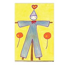 Yellow Scarecrow Postcards (Package of 8)