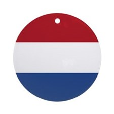 Netherlands Flag Ornament (round)