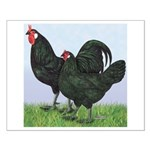 La Fleche Rooster and Hen Small Poster