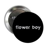 Flower Boy Black Button