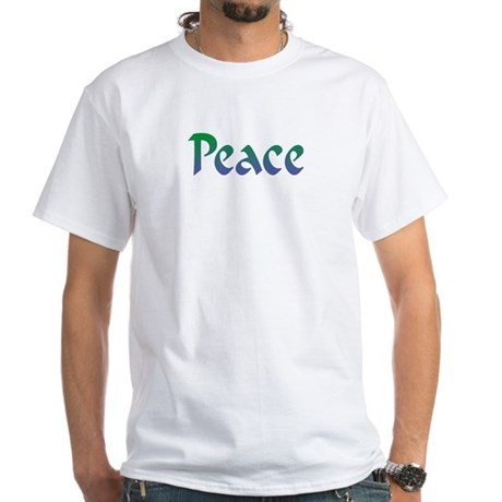Peace 4 Men's White T-Shirt