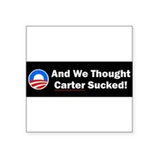 "Cute President obama Square Sticker 3"" x 3"""