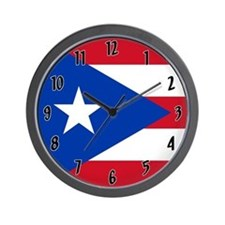 Flag of Puerto Rico Wall Clock