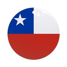 Chile Flag Ornament (round)