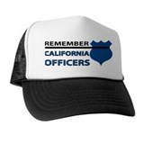 Remember California Officers Trucker Hat