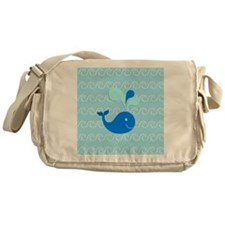 Playing in the Waves Messenger Bag