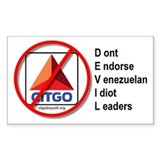 Boycott Citgo Sticker - DEVIL (Rectangular)