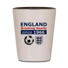 England.  Breaking Hearts since 1966 Shot Glass