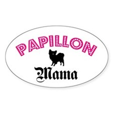 Papillon Mama Oval Decal