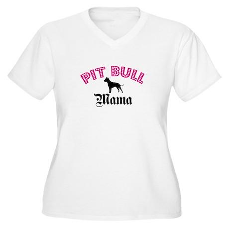 Pit Mama Women's Plus Size V-Neck T-Shirt