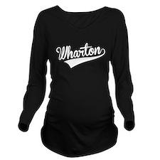 Wharton, Retro, Long Sleeve Maternity T-Shirt