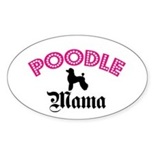Poodle Mama Oval Decal