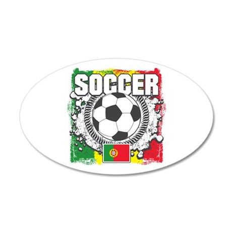 Portugal Soccer 35x21 Oval Wall Decal