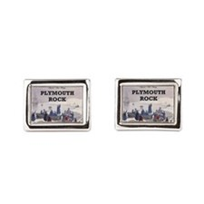ABH Plymouth Rock Rectangular Cufflinks