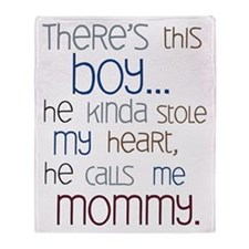 Baby Boy Quote for Mom Throw Blanket