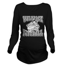 WOLFPACK FOOTBALL Long Sleeve Maternity T-Shirt