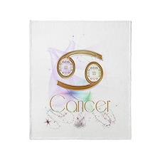Cancer Zodiac Sign Throw Blanket