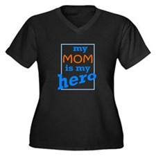 Mom Hero Women's Plus Size V-Neck Dark T-Shirt