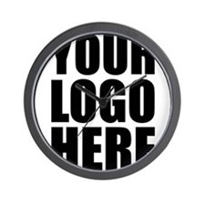 Your Logo Here Personalize It! Wall Clock