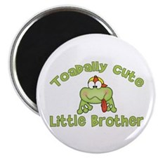 """Toadally Cute Little Brother 2.25"""" Magnet (10 pack"""