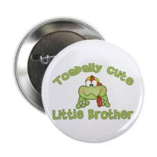 "Toadally Cute Little Brother 2.25"" Button (10 pack"