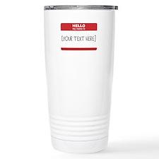 Name Tag Big Personalize It Travel Mug
