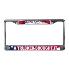 Cute Over the road License Plate Frame
