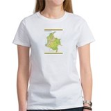 Colombia Green map Tee