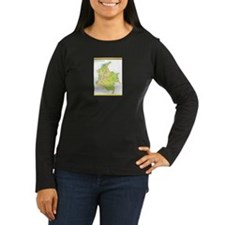 Colombia Green map T-Shirt