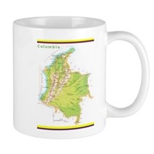 Colombia Green map Mug