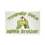 Toadally Cute Middle Brother Rectangle Magnet