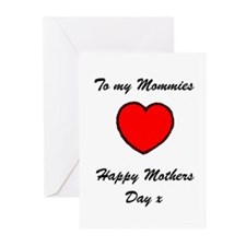 Lesbian Mothers Day Greeting Cards (Pk of 10)