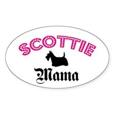 Scottie Mama Oval Decal