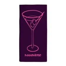 Purple and Pink Martini Custom Beach Towel