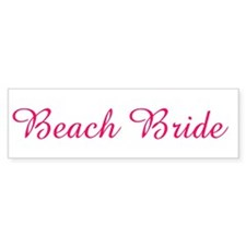 Beach Bride Bumper Bumper Sticker